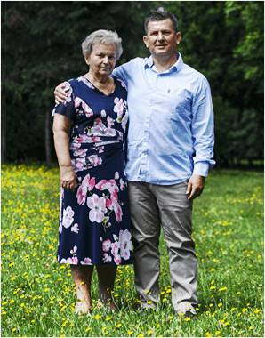 Historia Hyalutidin - Pan Grzegorz Kuczera z mamą